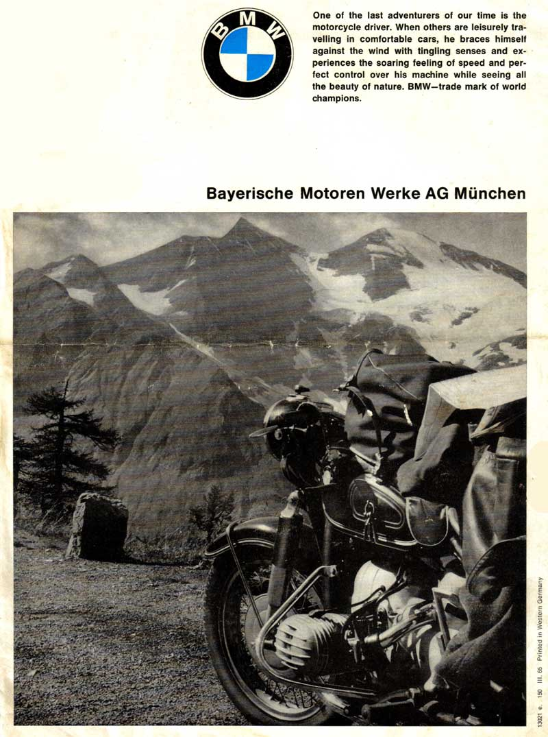 1965 bmw motorrad brochure. Black Bedroom Furniture Sets. Home Design Ideas