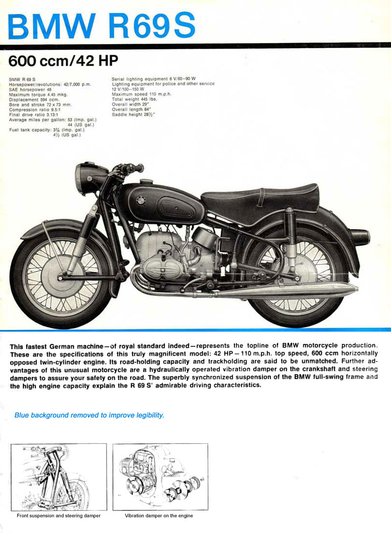 1965 BMW Motorrad Brochure