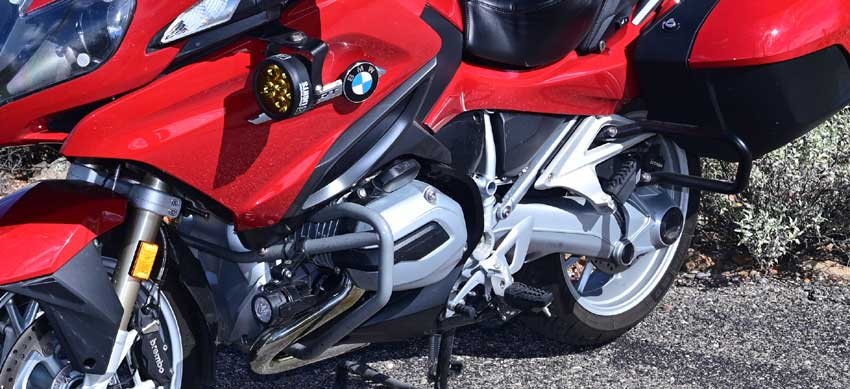 Bmw R1200rt Auxiliary Mirrors Denali Upper Light Mount For