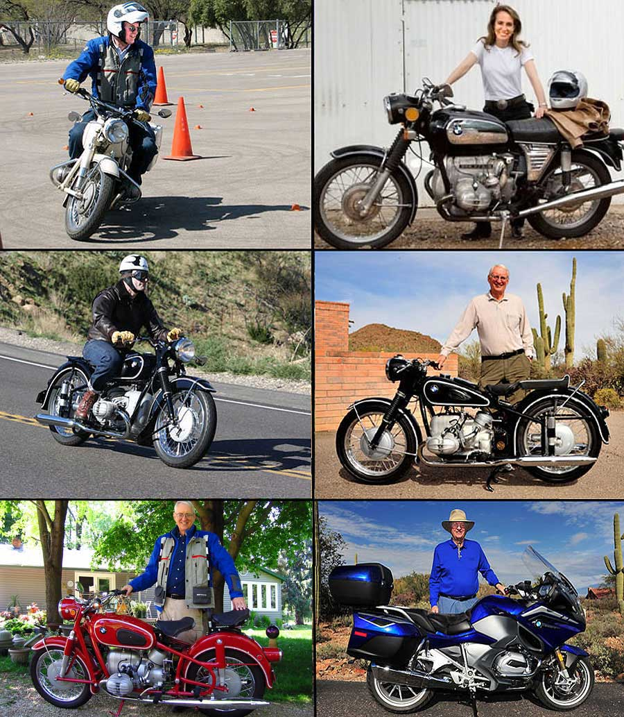 from the upper left 1967 bmw r60 2 and me 1972 bmw r75 5 with former congresswoman gabrielle giffords of arizona 1954 bmw r68 2015 bmw r1200rt